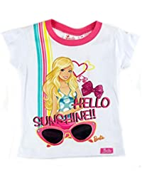 """Baby/ Mädchen/ Girl T-Shirt Disney """"BARBIE"""" Sunshine mit Glitzer - Gr. 86 - 110 - Gelb o. Weiß"""