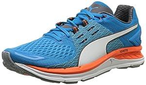 Puma Speed 1000 S IGNITE, Unisex Adults Running Shoes, Multicolor (Quarry/Atomic Blue/White), 6.5 UK (40 EU)