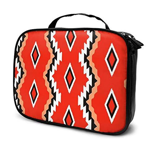 Ureinwohner-Muster-Reise-Make-upkosmetik-Kasten, tragbarer Bürsten-Kasten-Kulturbeutel-Reise-Ausrüstungs-Organisator-Kosmetiktasche
