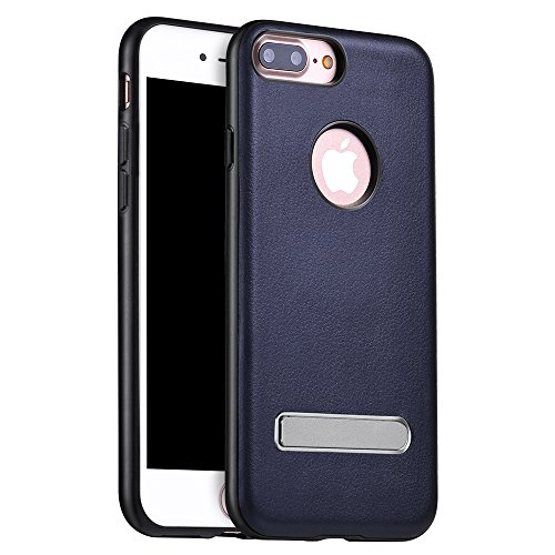Coque iPhone 7 Plus, PUGO TOP iPhone 7 Plus Case Coque Housse Etui Shock-Absorption PC Bumper et Anti-Scratch Effacer Clair Back pour Apple iPhone 7 Plus-or b¨¦quille-bleu royal