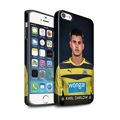 Offiziell Newcastle United FC Hülle / Matte Harten Stoßfest Case für Apple iPhone SE / Pack 25pcs Muster / NUFC Fussballspieler 15/16 Kollektion Darlow