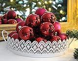 SET 24er Christbaumkugeln Weihnachtsbaumkugeln ROT Kugel bruchfest Weihnachten 6 cm Ø