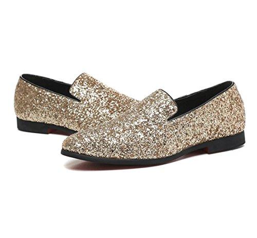Europa und Schuhe des Diamanten Männer niedrig Herrenmode Freizeitschuhe Friseurin Schuhen zu helfen Gold