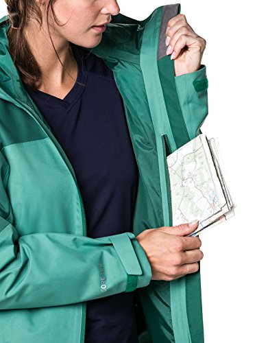 Berghaus Women's Fellmaster Gore Tex Waterproof Shell Jacket, Bottle Green/Posy Green, Size 14