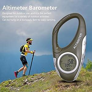 Luerme Multifunktions-Höhenmesser-Thermometer Indoor Outdoor-Thermometer Temperatur- und Wetter-Monitor für Outdoor…
