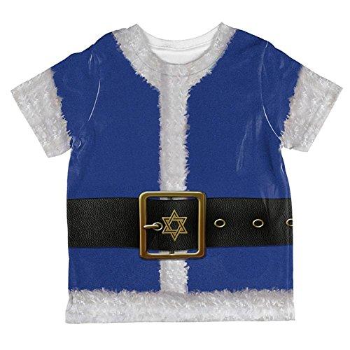 Weihnachten Chanukka jüdisches Santa Claus Kostüm aller Kleinkind T Shirt Multi 2 (Chanukka Kostüme)
