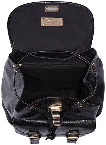 Buffalo BAG 214AB0281 PU 167484 Damen Rucksackhandtaschen 26x29x15 cm (B x H x T) Schwarz (Black 01)