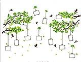 CAOLATOR Wandtattoo Bäum mit Bilderrahmen Kreativ Einfach Wandsticker Mode-Stil PVC Klebeband Aufkleber Wandaufkleber Für die Wanddekoration Schlafzimmer Kinderzimmer(60*90cm)