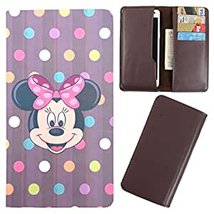 DooDa - For Karbonn A50 PU Leather Designer Fashionable Fancy Case Cover Pouch With Card & Cash Slots & Smooth Inner Velvet