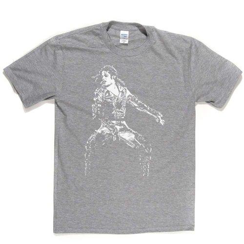 Michael Jackson Pop Moonwalk Legend T-shirt Aschgrau