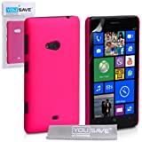 Yousave Accessories Coque hybride rigide pour Nokia Lumia 625 Rose Chaud
