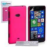 Custodia Per Nokia Lumia 625 Cover Duro Rigida Ibrido Rosa Caldo