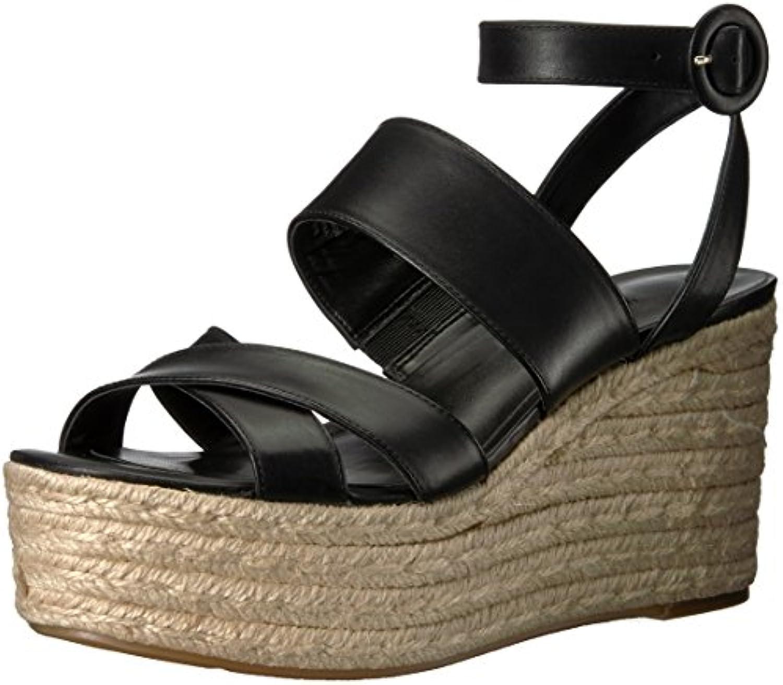 Nine West Leather Femmes  s Compensées Couleur Noir Black Leather West Taille 41.5 EU /B074PXV8Z3Parent c34044
