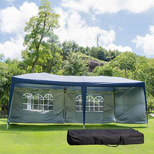 Outdoor Party Zelt Tragetasche/Pop Up Tragbare Einstellbare Falten Baldachin Pavillon Pavilion Hochzeit Patio Shelter (10 'X 20) (Color : White)