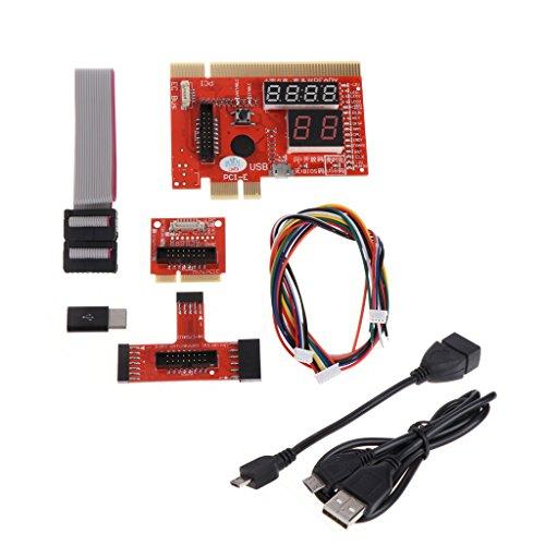 Qiman KQCPET6 V6 Typ B Debug Desktop Laptop Computer Handy Diagnosekarte Für PCI / PCIE / LPC / MiniPCI-E / EC