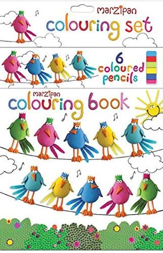 Robert Frederick Hängende Vögel Malbuch Set mit 6 Stiften sortiert