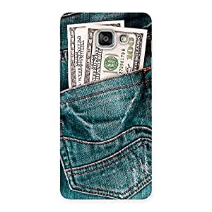 Delighted Money Money Colorful Jeans Back Case Cover for Galaxy A7 2016