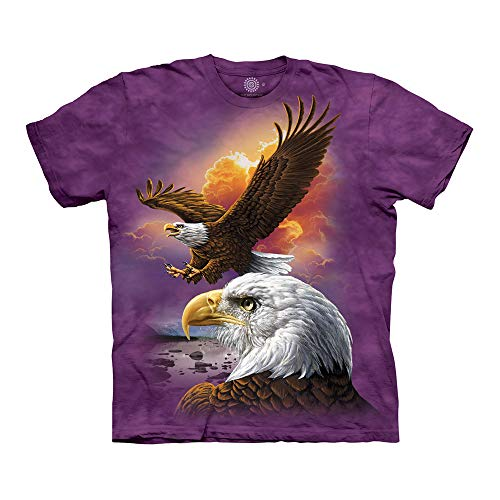 The Mountain Unisex-Erwachsene Eagle & Clouds T-Shirt, violett, 5X-Large