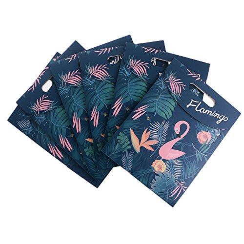 MagiDeal 6er Set Geschenke Papier – Tütchen mit Flamingo┃ zum Befüllen ┃ Flamingo ┃ Geschenke Tüten mit Flamingo┃ Klebstoff ┃ Gastgeschenk ┃ 6 Stück – 19 x 9 x 26 cm