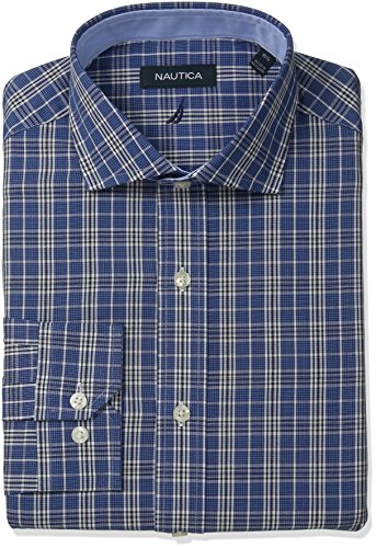 nautica-mens-plaid-shirt-with-winsford-cutaway-collar-navy-white-155-neck-32-33-sleeve