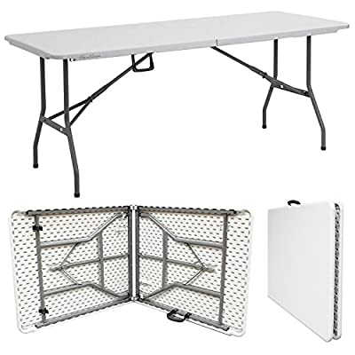 Hartleys 6 Foot Folding Table - Indoor/Outdoor - Kitchen/Home/Garden/Event/Party Table - inexpensive UK light store.