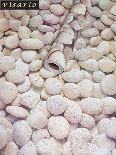 Visario Folie selbstklebend runde Steine Dekor 10 m x 45 cm 3039