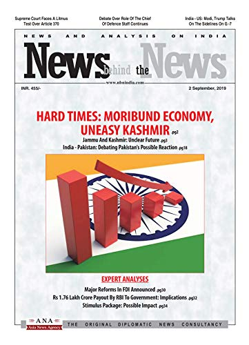 News Behind The News (NbN): Weekly News and Analysis on India, 02 September 2019 (English Edition) -
