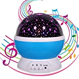 Gift for 1-10 Years Old,Star Projector Music Toys,Lullaby Night Light,Gift for Women or