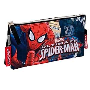 Spiderman – Portatodo Doble, Color Rojo y Azul (Montichelvo 29975)