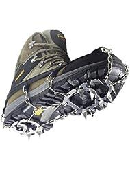 YUEDGE Crampons Universal 18 Stahl Zähne Anti-Rutsch Spikes EIS Und Schnee Traktion Edelstahl Steigeisen