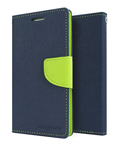 Sparkling Trends Mercury Goospery Fancy Diary Wallet Flip Cover Case for Gionee P5 Mini Blue