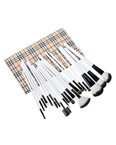 AKAAYUKO 20PCS Kit De Pinceau Maquillage Professionnel Pinceaux Makeup Brushes -Plaid