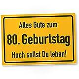 DankeDir! 80. Geburtstag Stadtschild - Kunststoff Schild, Geschenk 80. Geburtstag, Geschenkidee Geburtstagsgeschenk Achtzigsten, Geburtstagsdeko/Partydeko / Party Zubehör/Geburtstagskarte