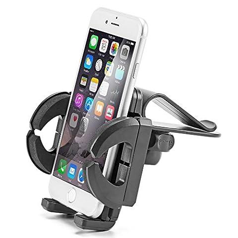 iKross Clip On Sun Visor Mount Holder Car Kit for Apple, Samsung, Motorola, LG Smartphone, Mobile Phone, GPS , MP3 Player -