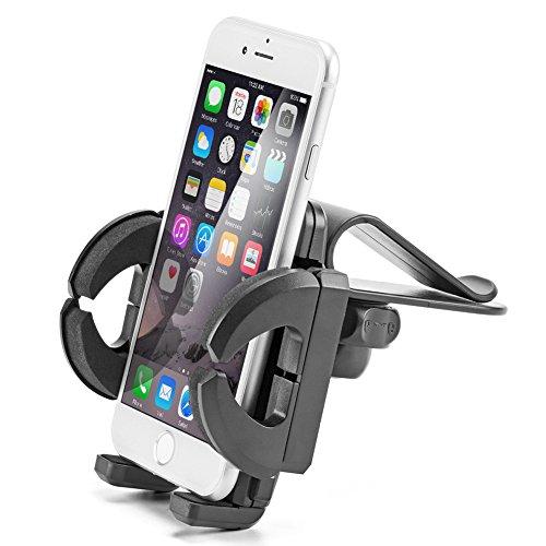 iKross Soporte Universal de Visera de Coche, para Smartphone, GPS, MP3 y más, Color Negro, IKHD25