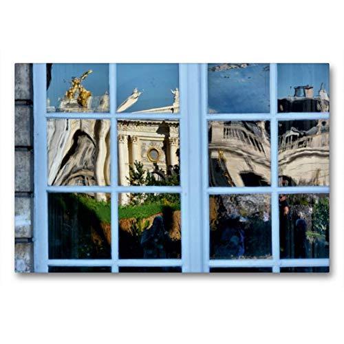 Premium Textil-Leinwand 90 x 60 cm Quer-Format Fenster von City Hall | Wandbild, HD-Bild auf Keilrahmen, Fertigbild auf hochwertigem Vlies, Leinwanddruck von Thomas Bartruff