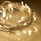 Rice String Lights Warm White Color for Decorative purposes (20LED - 4Mtr Long) | Diwali, Christmas, Birthday, Anniversary Party