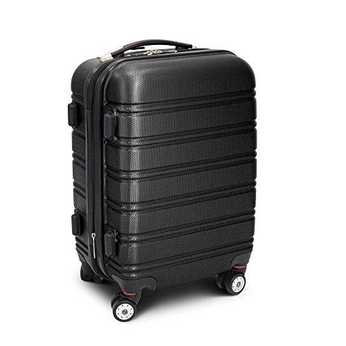 BERWIN® Trolley Reisekoffer Reisetasche Gepäcktasche Größe M Line Farbe Schwarz