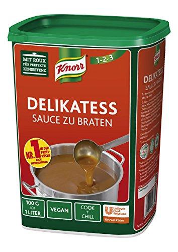 Knorr Delikatess Sauce zu Braten (pur als Bratensoße, Soßenbinder und zum Verfeinern), 1er Pack (1 x 1 kg) -