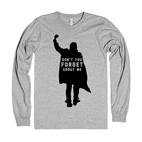 Skreened Men's John Bender: Don't You Forget About Me T-Shirt Large Heather Grey