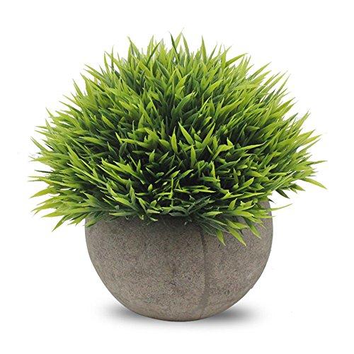 Binen Künstliche Faux Töpfe Pflanzen Mini Kunststoff Fälschung Grünes Gras für Home Decor Office