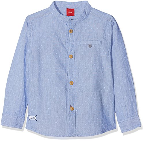 s.Oliver Baby-Jungen Hemd 65.808.21.3403, Blau (As Original 0009), 74