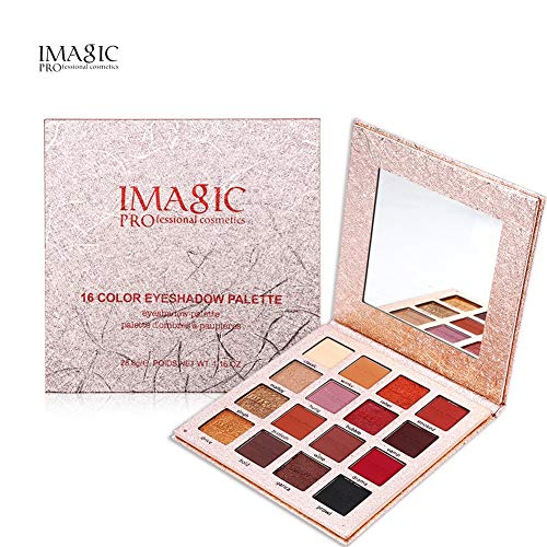 E-CHENG Eye Shadow Powder, 16 Colors Makeup Eyeshadow Pigment Shining Palette Cosmetics -
