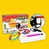 VZOM Suerte Globo Pistola Ruleta de Juguete Juego de Fiesta con Globo Novedad Familia Juego Interactivo de Parodia para Adultos, niños.