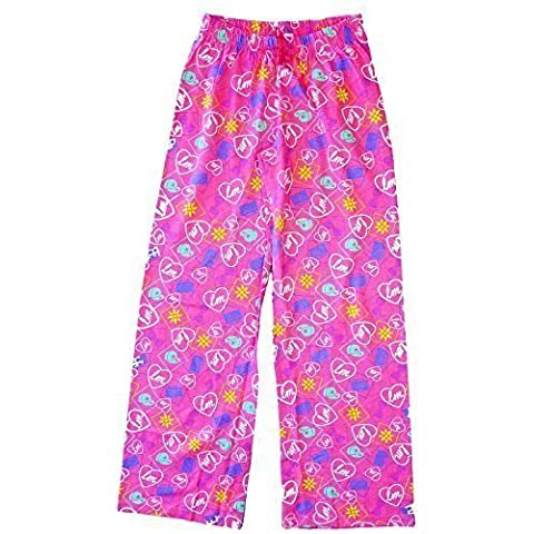 Niña Little Mix Corazón Lazos Pantalones De Andar Por Casa Algodón Pantalón De Pijama tallas desde 7 a 13