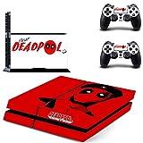 Playstation 4 + 2 Controller Design Sticker Protector Set - Deadpool (10)/PS4