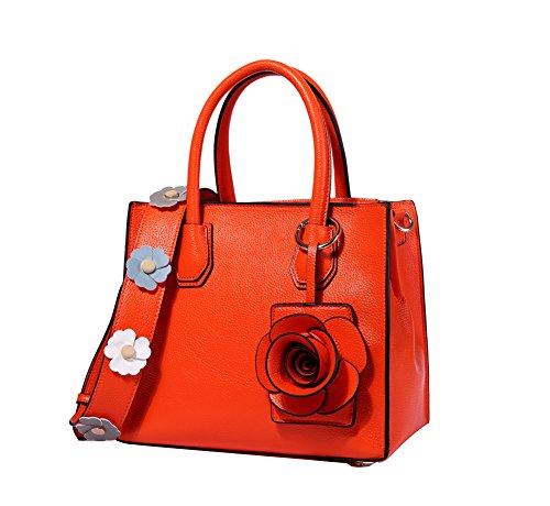 Genda 2archer Donna Borse Da Donna Borsa A Tracolla Elegante Tracolla Crossover Arancione