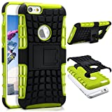 ONEFLOW iPhone 6S | Hülle Silikon Hard-Case Grün Outdoor Back-Cover Extrem Stoßfest Schutzhülle Grip Handyhülle für iPhone 6/6S Case Rückseite Tasche