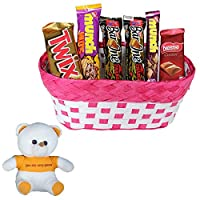 Valentines Day Chocolate Gift | Valentine's Day Gift Combo for Him, Her, Husband, Wife, Loved Ones, Girl Friend | Valentine Special Teddy Bear | Valentine Chocolate Hamper | 1181