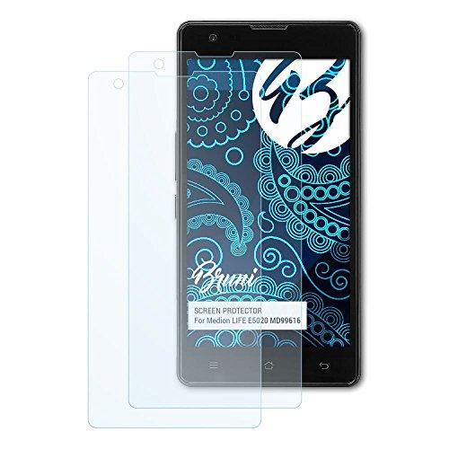 Bruni Schutzfolie kompatibel mit Medion Life E5020 MD99616 Folie, glasklare Bildschirmschutzfolie (2X)